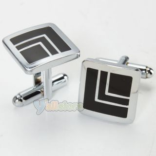 Quality Mens Accessories Set Tie Clips + Cufflinks Wedding Party Gift