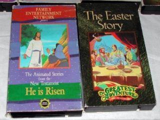 Lot of 18 Childrens Christian VHS Veggie Tales Larry Boy 123 Penguin