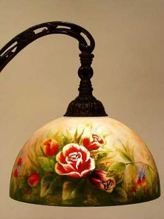 Dale Tiffany Hand Painted Roses Floor Lamp Last One
