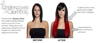 18 Human Hair Mahogany Red Clip in Hair Extensions