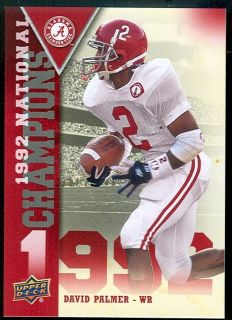 Alabama Minnesota Vikings David Palmer 1992 National Champions Insert