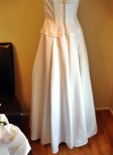 white wedding satin dress galina david s bridal