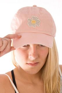 Life is Good   Daisy Tattered Chill Cap Pink Baseball Cap Hat   Women