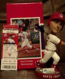 David Freese Bobblehead Rare Springfield St. Louis Cardinals