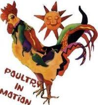 16756 Poultry in Motion Velvet Damask Rooster Figurine