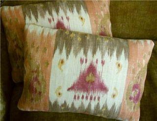 Lee Jofa David Easton Linen Fabric Custom Designer Throw Pillows 2 New
