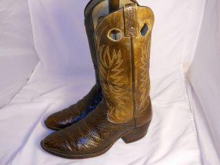 Mens Vintage Dan Post Size 9 D Western Cowboy Boots