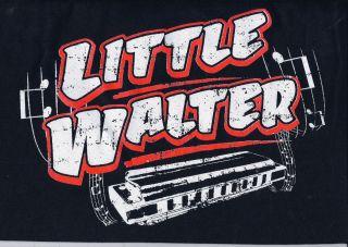 Blues Rockabilly Little Walter Harmonica T Shirt High Quality