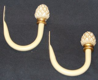 Curtain Rod Window Treatment Hangers with Finial