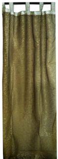 Golden 2 Window Door Stunning Organza Sheer Curtains Panels 92