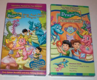 Dragon Tales VHS Sing Dance in Dragon Land We Can Solve It Together