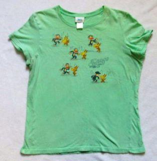 Mint Green Paul Frank Julius Dancy Clancy Giraffe Top T Shirt XL Extra