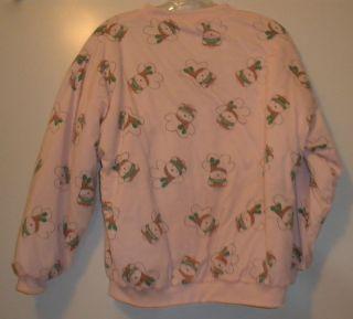 Vintage 1980s Dayton Hudson Santabear Reversible Quilted Sweatshirt