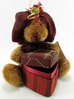 Dan Dee Plush Teddy Bear Stuffed Toy Animal w Heart Shaped Gift Box