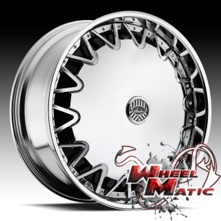 New Davin Dub Spinners Milan 24 Rims Wheels Chrome Blank Impala
