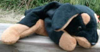 Ty Beanie Baby Doby The Doberman Puppy Dog So Cute LQQK