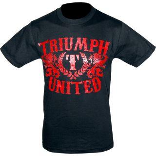 Triumph United UFC Dana White Crest Black T Shirt Tee Size M Medium