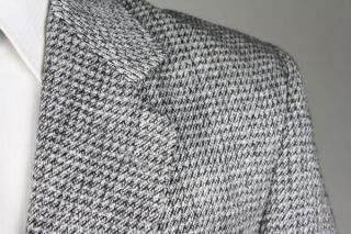 Vintage Daniel Hechter Black/White Wool TWEED Jacket/Blazer 42 L
