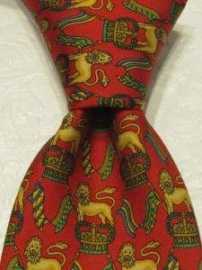 Salvatore Ferragamo Mens Luxury Neck Tie Silk Italy Made Animals