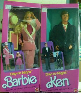 Day to Night Barbie and Ken 1984 extremely rare find together NRFB