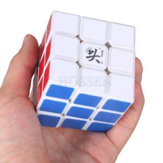 Dayan V 5 Zhanchi 3x3x3 Three Layer Speed Puzzle Magic Cube White
