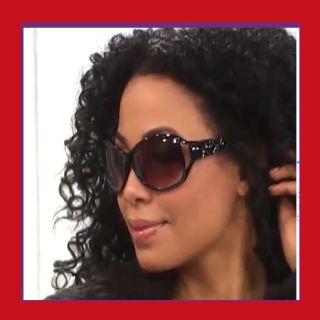 Mariah Carey Diva Quilted Sunglasses + Hard Case Great Item