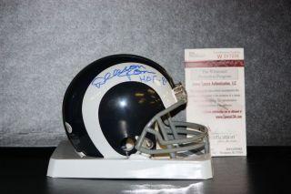 Deacon Jones Autographed Los Angeles Rams Mini Helmet JSA