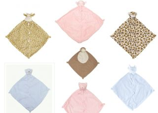 Angel Dear Blankie Infant Baby Cuddle Blanket Pink Blue Soft and Plush