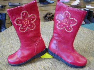 Umi 'Folklore' Red Leather Fashion Boot