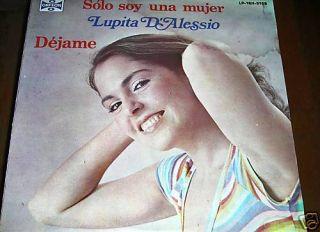 Lupita DAlessio Solo Soy Una Mujer Record LP Disco