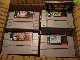 Nintendo Game Lot Street Fighter II 2 Yoshis Safari Pilotwings