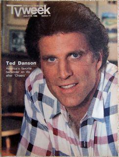 Ted Danson Cheers Chicago Tribune TV Week Guide June 8 1986