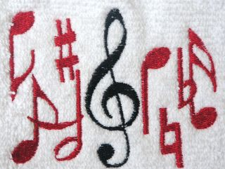 Music Towel Musical Notes Towel Decorative Towel