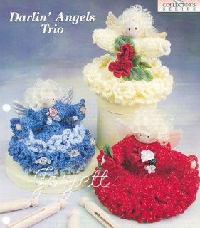 Darlin Angels Trio Sweet Angel Doll Crochet Patterns