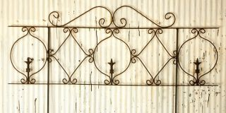 Wrought Iron Decorative Turnip Fence Garden Border Trellis for Flowers