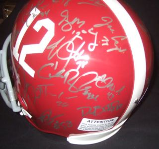 2009 2010 Alabama Crimson Tide Team Signed Helmet Proof Dareus McElroy