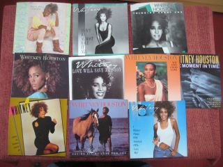 WHITNEY HOUSTON set of 10 Arista Picture Sleeves ONLY   NEW
