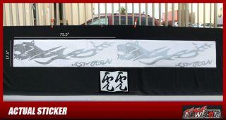 Vinyl Car Graphics Sticker Decal Tiger Integra Civic EG