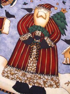 Debbie Mumm Fabric Panel Santa Christmas Tree Skirt Table Top VTNS