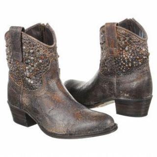Frye Womens Deborah Studded Western Grey Vintage Cowboy Leather Boots