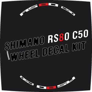 Shimano RS80 C50 Style Wheel Decal Sticker Kit