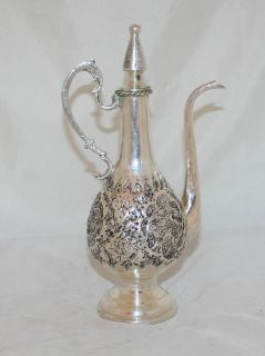 Antique Sterling Silver Pitcher Jug Persia Esfahan 1920