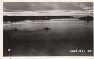 E1509 Me Deer Isle Scene Photo Postcard