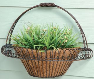 Deer Park WB102 All Metal Small Wall Basket Planter