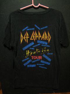 VINTAGE CONCERT T SHIRT (XL)   DEF LEPPARD   1987 HYSTERIA TOUR   RARE