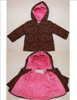 18 24 month Girls Fall Winter Coat Jacket Brown Pink Specialy Baby