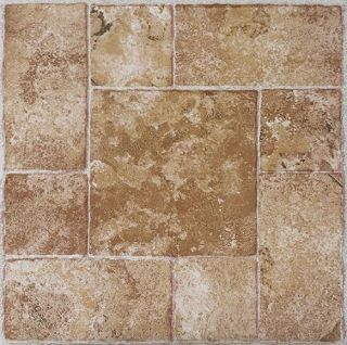 STONE self STICK adhesive VINYL floor TILES   40 pcs 12 x 12