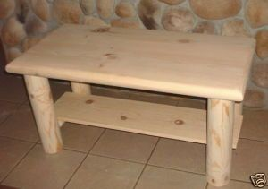 Coffee Table Rustic Log Furniture Decor Cabin Lodge U