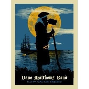 Dave Matthews Band Poster Coco Cay Bahamas Blue Mint