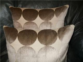 pillows Robert Allen DWELL STUDIO Geometric Cut Velvet Home Decor PAIR